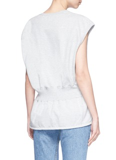 bassike Ruched waist French terry tank top