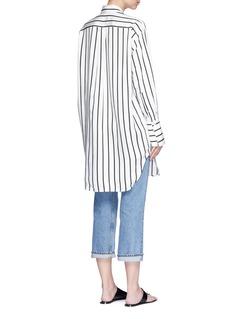 bassike Stripe herringbone oversized shirt