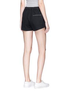 bassike Cotton canvas drawstring shorts