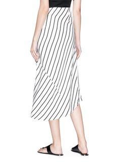 bassike Asymmetric hem stripe herringbone pencil skirt