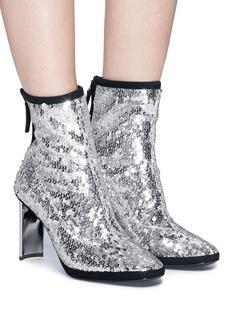 Giuseppe Zanotti Design 'Ruggente' geometric heel sequinned ankle boots