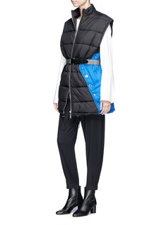 3.1 Phillip Lim Button panel oversized puffer vest