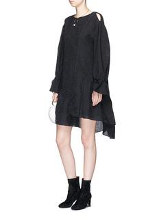 3.1 Phillip Lim Ruffle floral jacquard dress