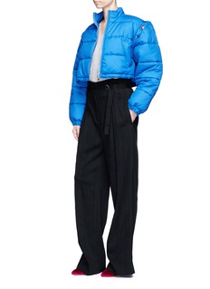 3.1 Phillip Lim Detachable sleeve cropped puffer jacket