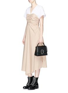 3.1 Phillip Lim Contrast yoke corset poplin dress