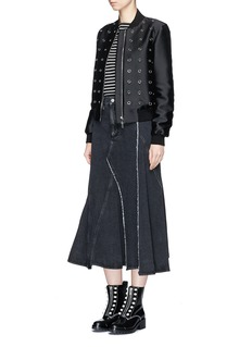 3.1 PHILLIP LIM 拼接设计不对称牛仔半裙