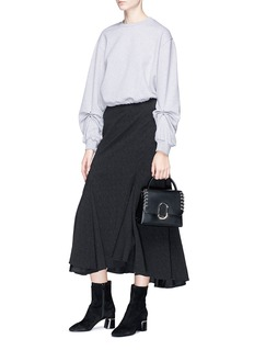 3.1 Phillip Lim Pierced ruched sleeve French terry sweatshirt
