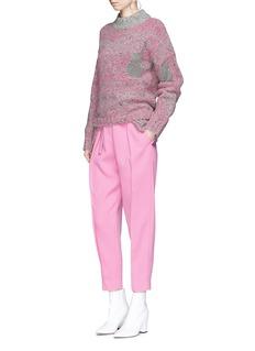 3.1 Phillip Lim Metallic panel extended hem wool blend sweater