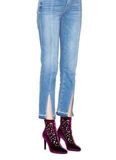 Giuseppe Zanotti Design 'Bimba' embellished velvet ankle boots