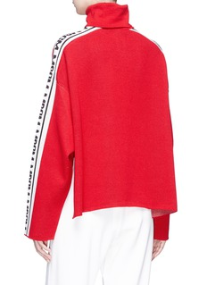 MSGM Logo intarsia turtleneck top