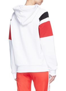 MSGM Jewelled drawstring stripe hoodie