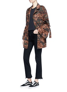 rag & bone/JEAN 'Dahlia' panelled slub jersey tank top