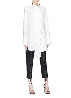 Roksanda 'Akano' ruffle oversized poplin shirt