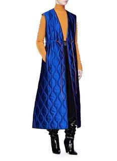 Roksanda 'Toledo' quilted wrap maxi vest