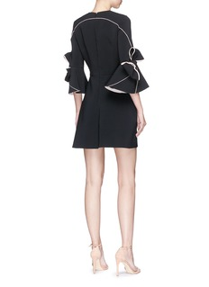 Roksanda 'Harlin' bow cuff bonded crepe flared dress