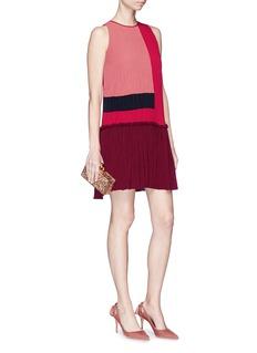 Roksanda 'Himegi' colourblock plissé pleated crepe dress