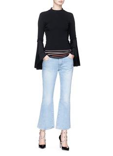 Roksanda 'Midori' ruffle outseam knit sweater