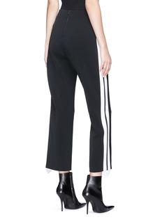 Dion Lee Stripe epaulette outseam cropped wide leg pants