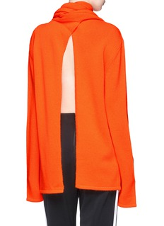 Dion Lee Scarf open back cashmere sweater