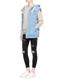 Ivy Park 'Leigh' distressed cropped skinny jeans
