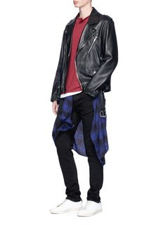 TopmanSlim fit coated jeans