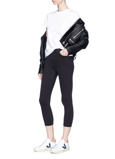Ivy Park 'MOTO' high waist ankle grazer Jamie jeans