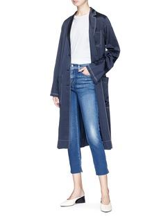 L'Agent 'Nicoline' cutoff cuff cropped skinny jeans