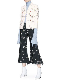 Acne Studios 'Jilva' floral print corduroy blazer