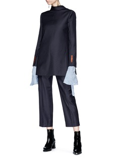 Acne Studios 'Trea Dot' print cropped suiting pants