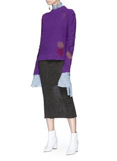 Acne Studios 'Leniz' fringe intarsia sweater