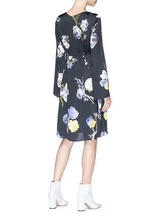 Acne Studios 'Dahari FL' floral print satin dress