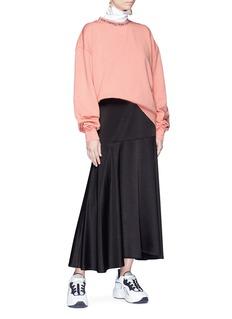 ACNE STUDIOS Yana品牌名称提花鱼鳞布卫衣