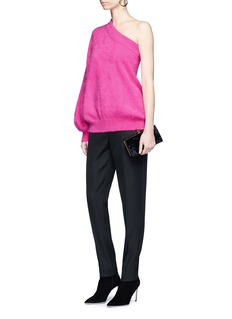 Emilio Pucci One-shoulder angora wool blend sweater