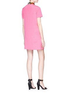 Emilio Pucci Sequinned collar silk crepe dress