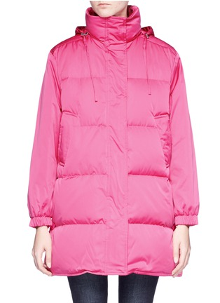 Main View - Click To Enlarge - Emilio Pucci - Button outseam hooded down puffer jacket