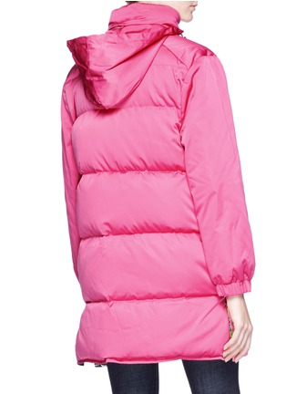 Figure View - Click To Enlarge - Emilio Pucci - Button outseam hooded down puffer jacket