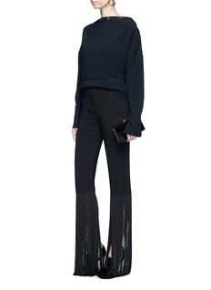 Emilio Pucci Extended fringe cuff suiting pants