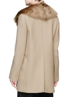 Marc Jacobs Detachable lambskin fur collar twill coat