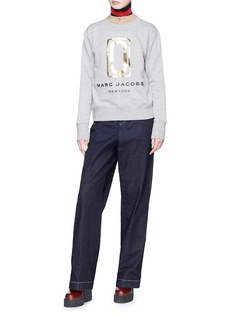 Marc Jacobs Double J logo foil print French terry sweatshirt