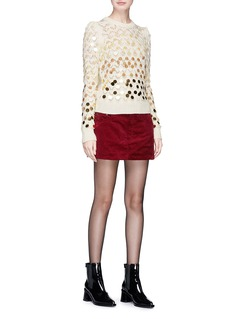 Marc Jacobs Paillette embellished wool- cashmere sweater