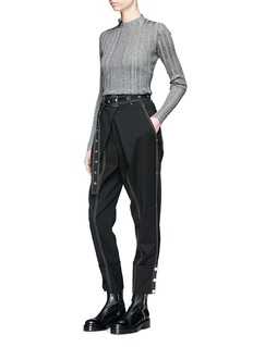 Proenza Schouler Metallic accent rib knit sweater