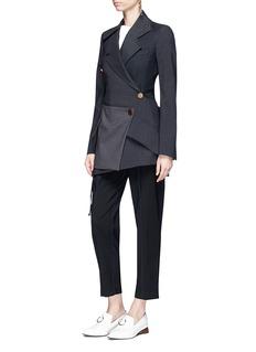 Proenza Schouler Zip virgin wool blend cropped suiting pants