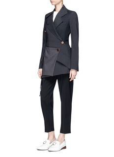 Proenza Schouler Colourblock hem overlay deconstructed suiting jacket
