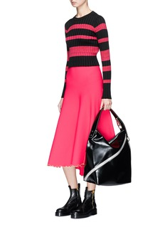 Proenza Schouler Squiggle hem flared knit skirt