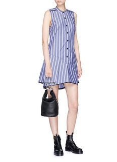 Proenza Schouler Skirt overlay stripe flared dress