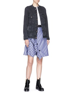 Proenza Schouler Asymmetric ruffle stripe skirt