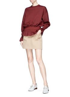 Stella McCartney Smocked peplum jersey top