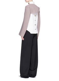 Stella McCartney Check plaid wool blend jacket