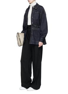 Stella McCartney Peplum hem raw denim jacket