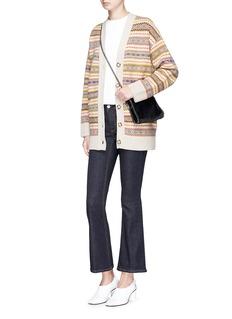 Stella McCartney Ethnic stripe oversized virgin wool cardigan